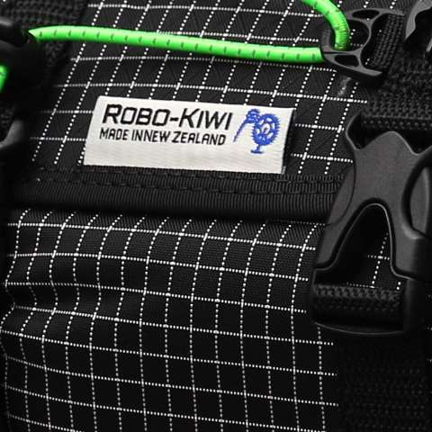 ROBO-KIWI Bikepacking Bags - Handlebar Bags - Front Harness + Dry Bag DGS - black/green trim