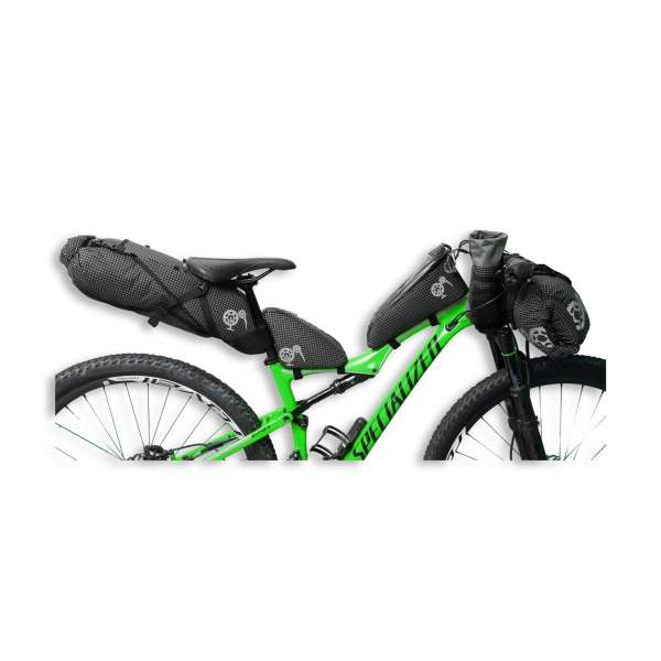 ROBO-KIWI Bikepacking Bikepacking Setups - 5 Bag Essential Bikepacking Set DGS - black, no trim (2)