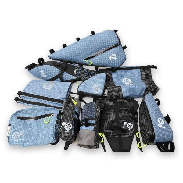 ROBO-KIWI Bikepacking Bikepacking Setups - 8 Bag Adventure Bikepacking Set DGS - slate blue (2)
