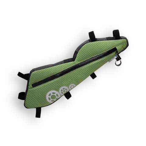 ROBO-KIWI Bikepacking Bags - Triangulator DGS - single, lichen green (custom shape)
