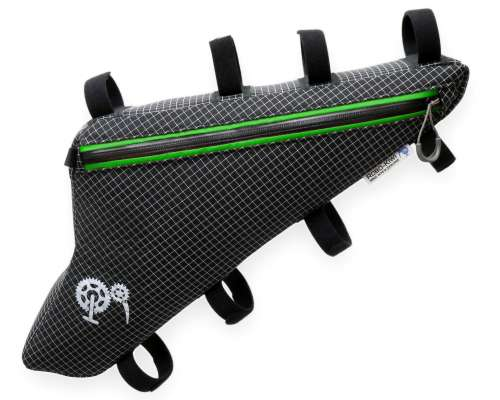ROBO-KIWI Bikepacking Frame Bags - Triangulator Bag DGS - single, black/green trim