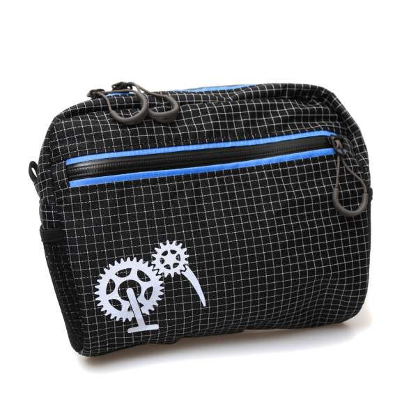 ROBO-KIWI Bikepacking Handlebar Bags - Cafe Bag - black / blue (1)