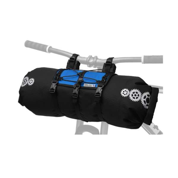 ROBO-KIWI Bikepacking Handlebar Bags - Front Harness + Dry Bag XP - bahama blue (1)