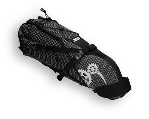 ROBO-KIWI Bikepacking Saddle Bags - Rear Harness + Dry Bag DGS - black