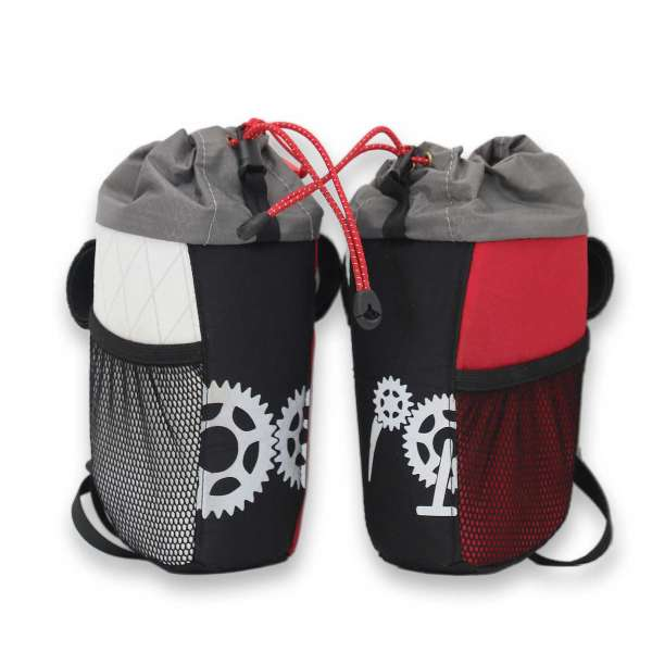 ROBO-KIWI Bikepacking Stem Bags - Goodie Bag XP - white & red (1 bag only) (4)