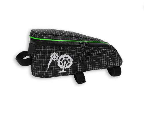 ROBO-KIWI Bikepacking Top Tube Bags - Cockpit Bag DGS - black/green trim