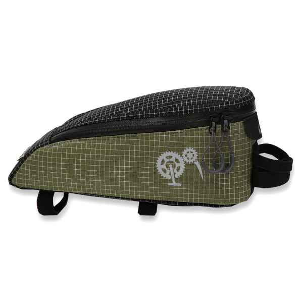 ROBO-KIWI Bikepacking Top Tube Bags - Cockpit Bag DGS - regular, dark olive (1)