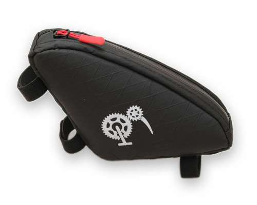 ROBO-KIWI Bikepacking Top Tube Bags - Macgyver Bag XP - black/red trim